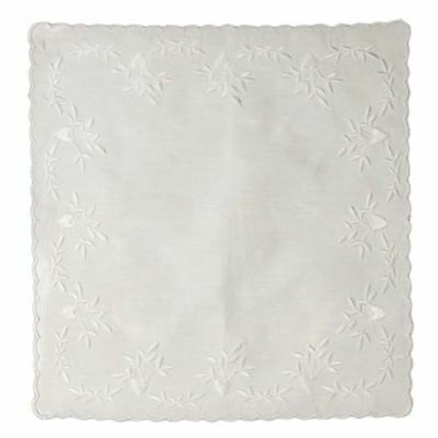 Handkerchief - Hearts Embroidery
