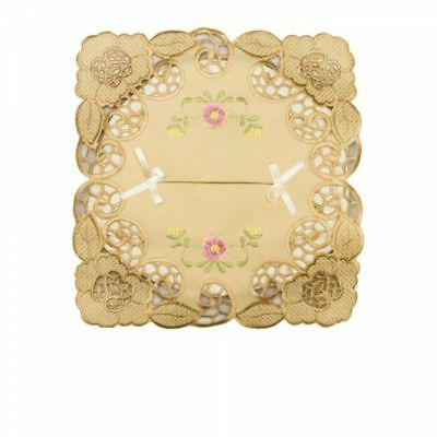 Tissue Box Cover - Miss Wong - Pink Flowers On Beige