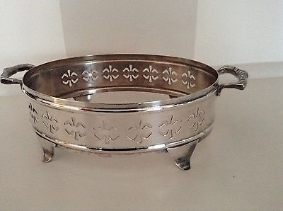 Vintage Silver Plate Dish/plate Stand - Marked Essex Pure Silver Plated.
