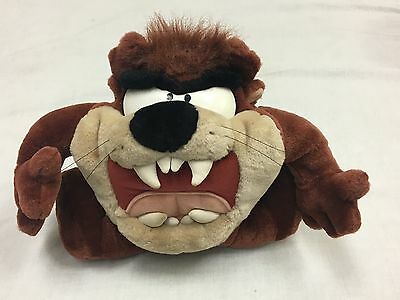 Tazmanian Devil Vintage Plush Looney Tunes Growling Talking Spinning 1997