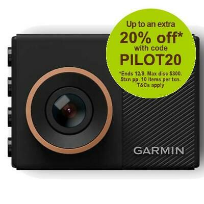 Garmin Dash Cam 55 1440p GPS Crash Camera with AUST GARMIN WARRANTY
