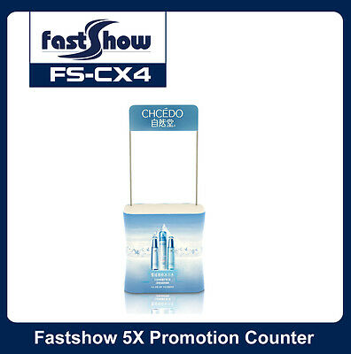 Rectangle Fabric Promotion Counter Trade Show Display Table with Custom Graphic