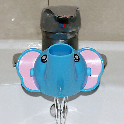2018 Kid Children Cute Water Tap Faucet Crab Extender Washing Hand Bathroom Sink