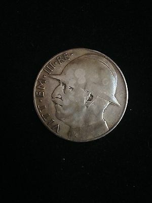 *RARE* 1928 Italy 20 Lire Circulated Silver Coin- 10th Anni. of WWI Silver Coin