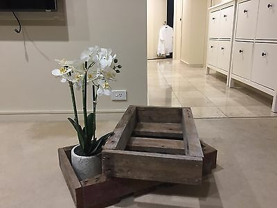 Handmade Designer Wooden Crate Timber Planter Boxes X 4