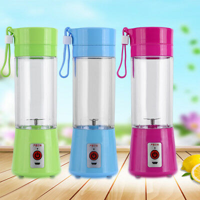 400ML Portable Rechargeable USB Juicer Smoothie Mixer Handheld Blender Cup DY