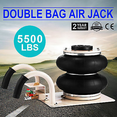 Gonflable Voiture jack 2.5T Pneumatique Air Jack Cric Quick Lift Réglable