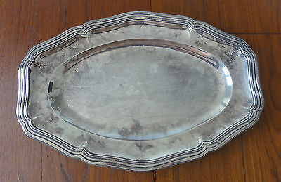 Grand Plat 18ème Siècle Argent Massif. 18th Century French Sterling Silver Plate