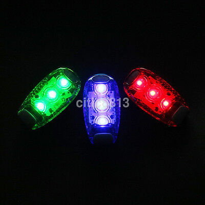 LED Light Clip on Bike Rear Lamp Cycling Running Safety Warning Night Light New