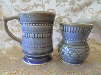 Vintage Irish Porcelain Cup and Jug/ Toothpick Holder