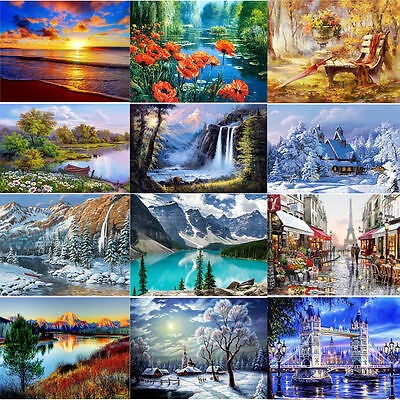 DIY 5D Diamond Painting Snow Mountain Embroidery Cross Crafts Stitch Home Decor
