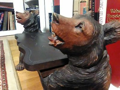 Antique Swiss Black Forest Bear Bench Miniature with Working Music Box