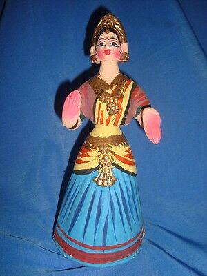 Old Vintage Terracota Clay Dancing Doll Toy from India 1950