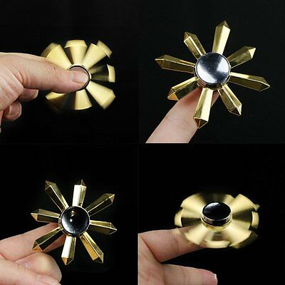 EDC Hand Spinner Finger Fidget Metal Hybird Bearing Gyro Kids Adul Focus Fun Toy