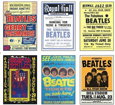 The Beatles Concert Posters POSTCARD Set #2