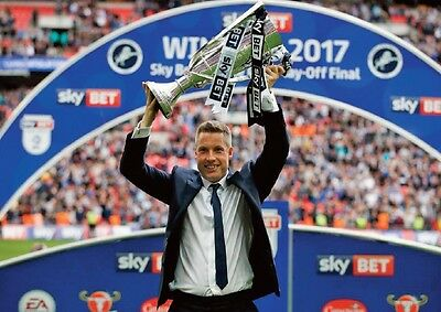 Millwall League One Play Off Winners 2017 Neil Harris with Trophy POSTER
