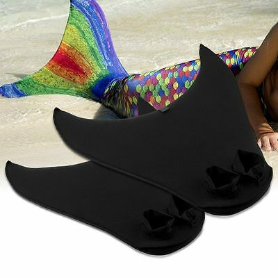 Mermaid Tails Kids Adults Swimmable Monofin Mono Fin Flippers Swimming Costume