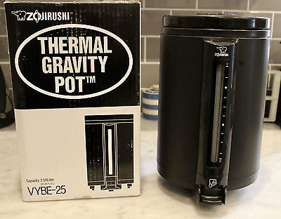 ** New **  Zojirushi Thermal Gravity Pot VYBE-25 2.54 Liter / 86 Oz