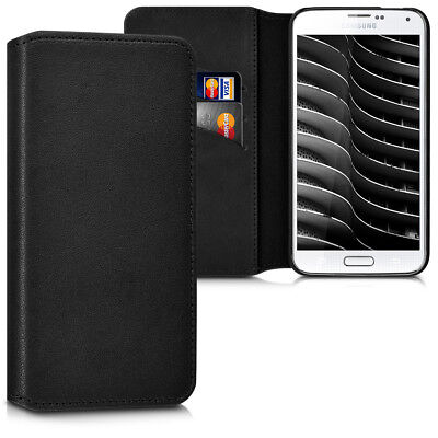 Genuine Leather Flip Folio Wallet Case for Samsung Galaxy S5 S5 Neo