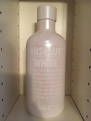 ABSOLUT VODKA 700ml White Selfridges Empty NO ALCOHOL