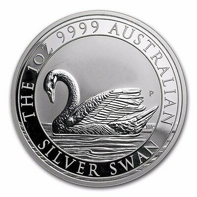 2017 1oz Silver Swan 9999 Perth Mint coin Limited Mintage