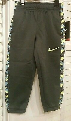 NWT $38, NIKE THERMA FIT Gray SweatPants Track Jogger Pants Toddler Boy 3T