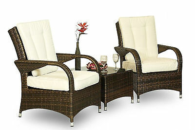 Rattan Garden Seat Furniture Set Table Patio Sofa Outdoor Weave Wicker Chairs