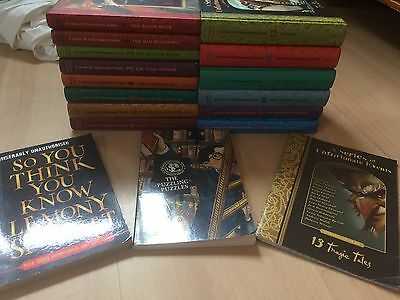 Complete Set Lemony Snicket A  Series Of Unfortunate Events Books