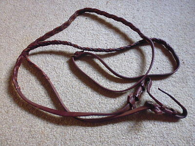 Stubben Laced Reins Reins Honey Brown/London Tan full size 56""