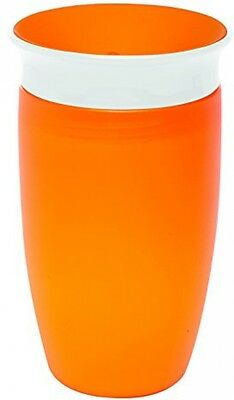 Toddler Drinking 360 Degree Sippy Cup (296 ml, Orange) Clean Non Spill Childrens