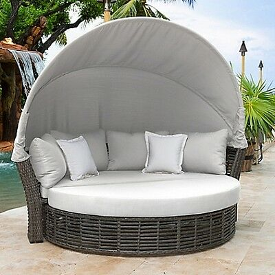 Graphite Outdoor Canopy Daybed Grey handcrafted lightweight Highly durable Great