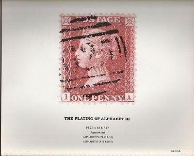 Philatelic Literature: Plating of the Alphabet III - Penny Red - IA to LL