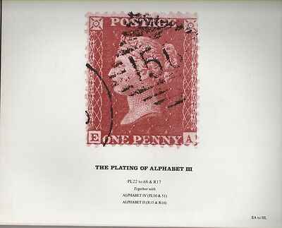 Philatelic Literature: Plating of the Alphabet III - Penny Red - EA to HL