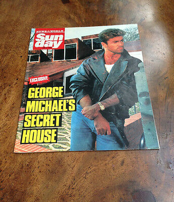 Sunday magazine featuring Lewis Collins, Martin Shaw & George Michael