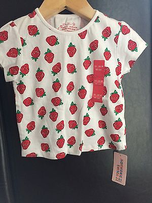 Girls 18-24 Months Strawberry T Shirt, Primark New With Tags