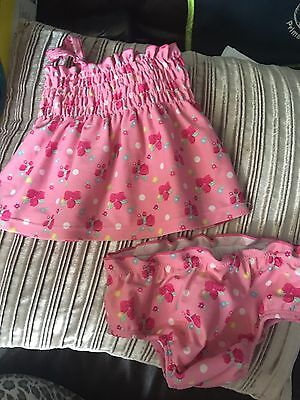 Baby Girls 2 Piece Swim Suit 12-18 Month MOTHERCARE