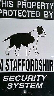 This Property Protected By American Staffordshire Dog Security System Metal Sign