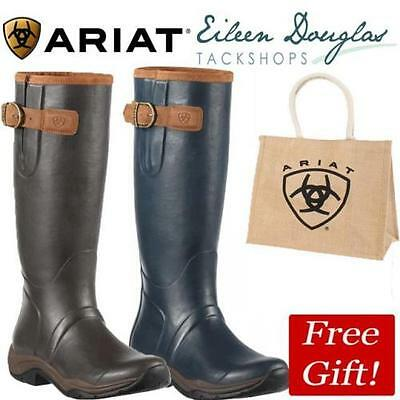 Ariat Storm Stopper Wellington Boots Wellie Boots - Navy Or Brown Stormstopper