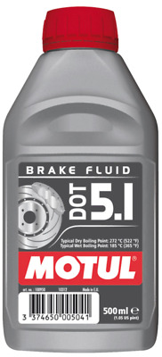 Motul DOT 5.1 Olio Liquido freni Auto moto ABS 500ml 100% Sintetico Brake Fluid
