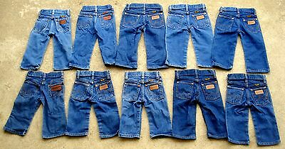 Lot of 10 Vtg 70's 80's wrangler baby kids jeans Size 1T & 2T Made in USA