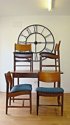 Mid Century Retro Extending Teak Dining Table and Chairs