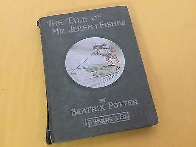 1906 The Tale of Mr. Jeremy Fisher by Beatrix Potter Antiquarian Book Rare