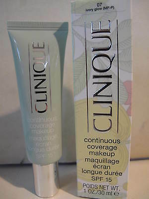 CLINIQUE continuous coverage makeup  spf15 - 07 ivory glow. -
