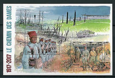 France 2017 MNH WWI WW1 Chemin Des Dames 2v M/S Military First World War Stamps