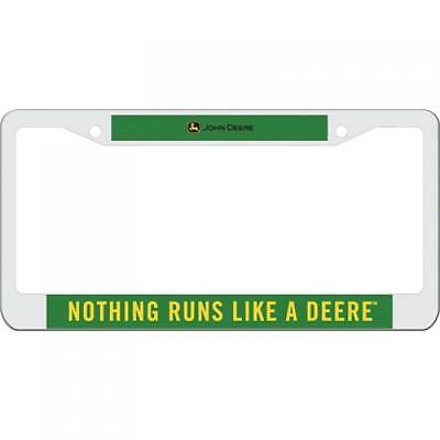 License Plate Holder - Nothing Runs LIke a Deere