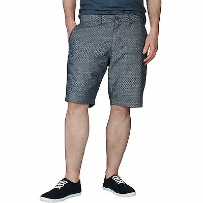 New Mens Collection Shorts Tailored Fit Pure Cotton Casual Knee Length Blue