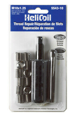Heli-Coil Thread Repair Kit 12 Inserts Metric M 10mm X 1.25mm X 15.0mm