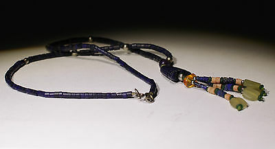 Ancient Carved Lapis Bead Necklace - No Reserve!