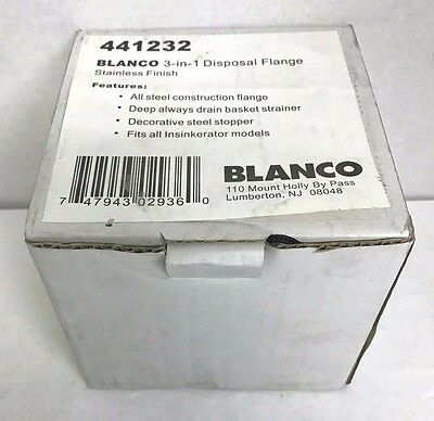 Blanco 441232 3-in-1 Disposal Flange Stainless Steel