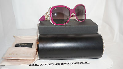 BVLGARI Sunglasses New Authentic Violet Pink/Grey Gradient BV8172B 53928G 58 140
